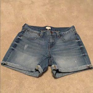 J crew factory jean shorts